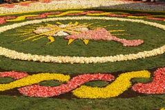 Diano Marina, Włochy Czerwiec - 10, 2007: Infiorata Lig Obrazy Royalty Free