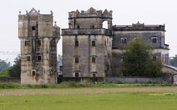 Diaolou,old building. A tower or other fortification on the approach to a castle or town,Old building in chikan Town,Kaiping,Guangdong,china stock photos