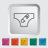 diaper royalty-vrije illustratie