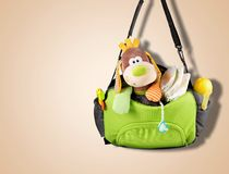 Diaper bag Stock Image