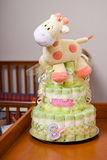 Diaper Cake for girl Royalty Free Stock Photo