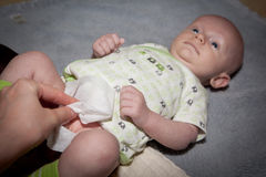 Diaper Change Stock Images