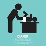 Diaper Changing Graphic Symbol Stock Image