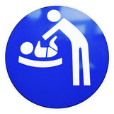 Diaper changing table sign Royalty Free Stock Photo