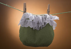Diaper on the clothesline Royalty Free Stock Photos