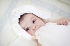 Diaper hat Stock Photography