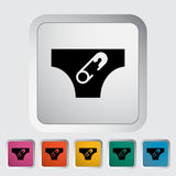 Diaper. Icon. Flat vector related icon for web and mobile applications. It can be used as - logo, pictogram, icon, infographic element. Vector Illustration Royalty Free Stock Photography