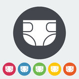 Diaper. Icon. Flat vector related icon for web and mobile applications. It can be used as - logo, pictogram, icon, infographic element. Vector Illustration Royalty Free Stock Photo