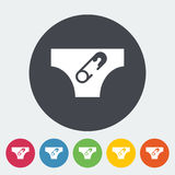 Diaper. Icon. Flat vector related icon for web and mobile applications. It can be used as - logo, pictogram, icon, infographic element. Vector Illustration Stock Images