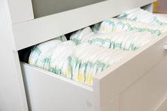 Diapers. Isolated. Baby care. Studio Shot. Stacks of diapers for children isolated on white background. Stack of baby royalty free stock photos