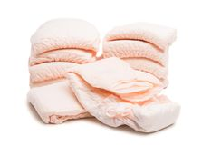 diapers isolated Stock Images
