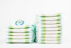 Diapers with pacifier isolated Royalty Free Stock Image