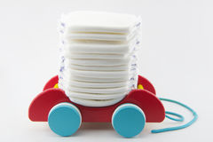 Diapers. On white background - closeup Royalty Free Stock Photography