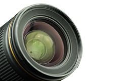 The diaphragm of a camera lens aperture. The diaphragm of a camera lens aperture on white background Stock Photos