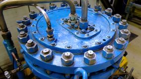 Diaphragm compressor. Liquid gas factory