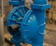 Diaphragm pump membrane pump in petrochemical plant. Selective focus Stock Images