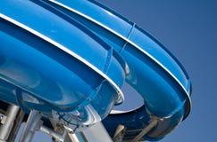 Diapositiva azul del aqua-parque Fotografía de archivo