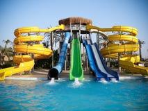 Diapositiva de agua de Aquapark Imágenes de archivo libres de regalías