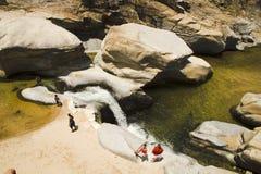 Diapositiva de agua natural del paraíso de Chicos Fotos de archivo