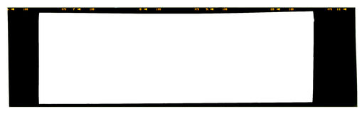 Diapositiva de color panorámica vacía del formato grande los 6x17cm 120 o 220 tipo 60m m Imagenes de archivo