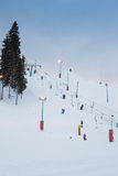 Diapositiva de la nieve Imagen de archivo libre de regalías