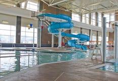 Diapositiva de la piscina Imagen de archivo libre de regalías
