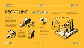 Diapositiva de proceso del infographics del vector del reciclaje de residuos libre illustration