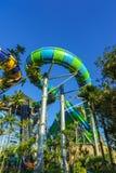 Diapositiva enorme del tubo del agua de la selva Foto de archivo