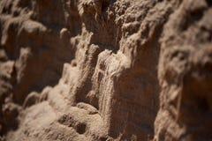 Diapositiva macra de la arena foto de archivo libre de regalías