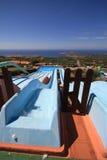 Diapositiva magnífica en parque del agua Foto de archivo