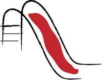 Diapositiva roja Foto de archivo libre de regalías