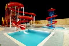Diapositivas de Aquapark Imágenes de archivo libres de regalías