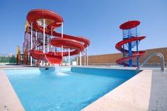 Diapositivas de Aquapark Foto de archivo libre de regalías