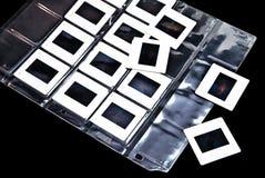 Diapositivas de película de la foto del plástico Fotografía de archivo libre de regalías
