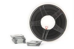 Diapositivas de película y rollo de película analogicos Imágenes de archivo libres de regalías