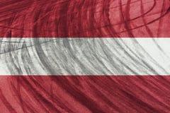 Diapositivas del circuito y del neumático del coche deportivo con la mezcla de la bandera de Austria Fotos de archivo libres de regalías