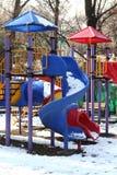 Diapositivas en el parque Imagenes de archivo