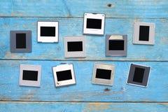 Diapositivas en fondo sucio, Foto de archivo libre de regalías