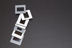 diapositives de film de glissières de 35mm avec l'espace de copie Photographie stock