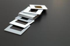 diapositives de film de glissières de 35mm avec l'espace de copie Photos stock