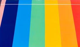Diapositives en couleurs colorées de fond dans la ligne Photographie stock