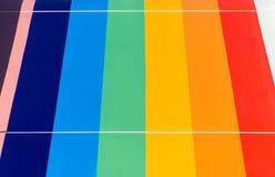 Diapositives en couleurs colorées de fond dans la ligne Photos stock