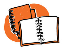 Diaries scribble Royalty Free Stock Photos