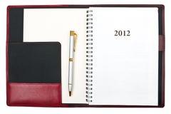 Diario 2012 Fotos de archivo libres de regalías