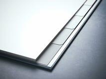 Diario bianco in bianco nello studio fotografia stock