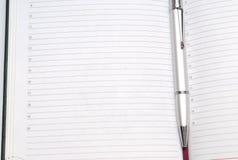 Diario con la penna Fotografia Stock Libera da Diritti