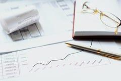 Diario con una penna, calcolatore Immagine Stock Libera da Diritti