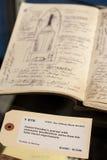 Diario de Daniel Faraday Fotografía de archivo libre de regalías