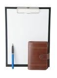 Diario de la carpeta de la oficina Imagen de archivo libre de regalías