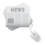 Diario de las noticias del Web Foto de archivo libre de regalías